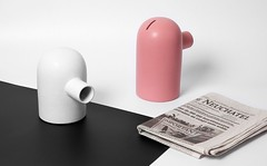 Ceramic spount coin bank
