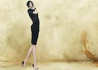 KELINI - Sexy Affair Leather Dress