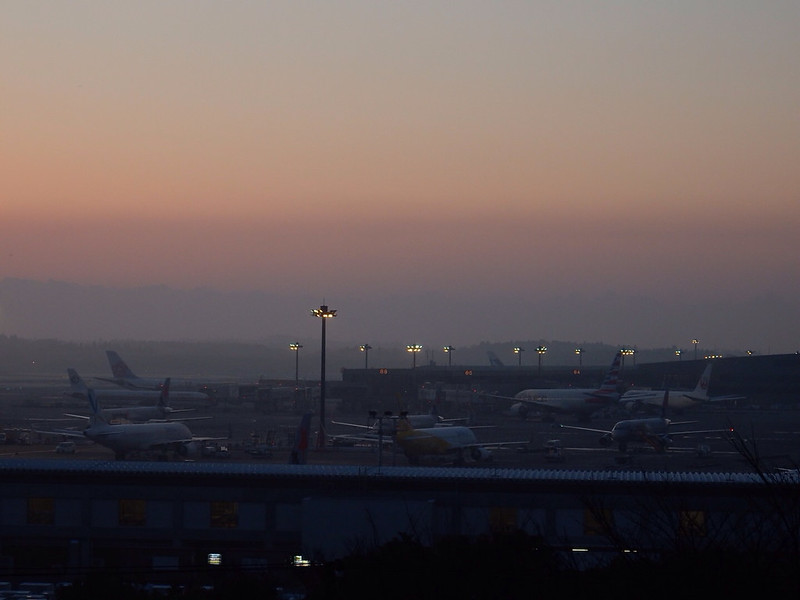 東横イン成田 朝の風景