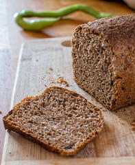 produce(0.0), baking(1.0), bread(1.0), pumpkin bread(1.0), rye bread(1.0), whole grain(1.0), baked goods(1.0), banana bread(1.0), food(1.0), brown bread(1.0),