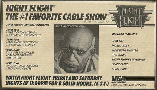 04/28/83 (Night Flight on USA - Schedule Ad)