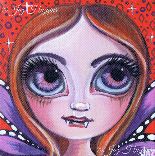 """Purple Vampire Fairy"" original painting by Jaz Higgins"