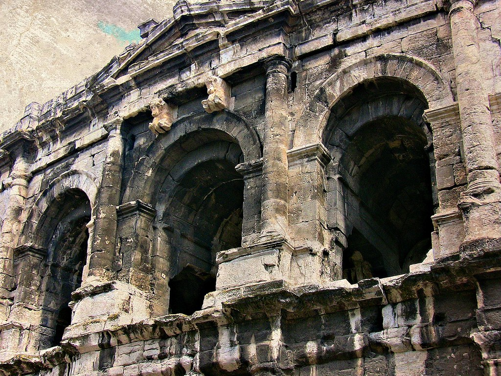 FRANCE - Provence, Nîmes , röm. Theater les Arènes, 12502
