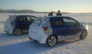 Opel Corsa OPC Wintertests