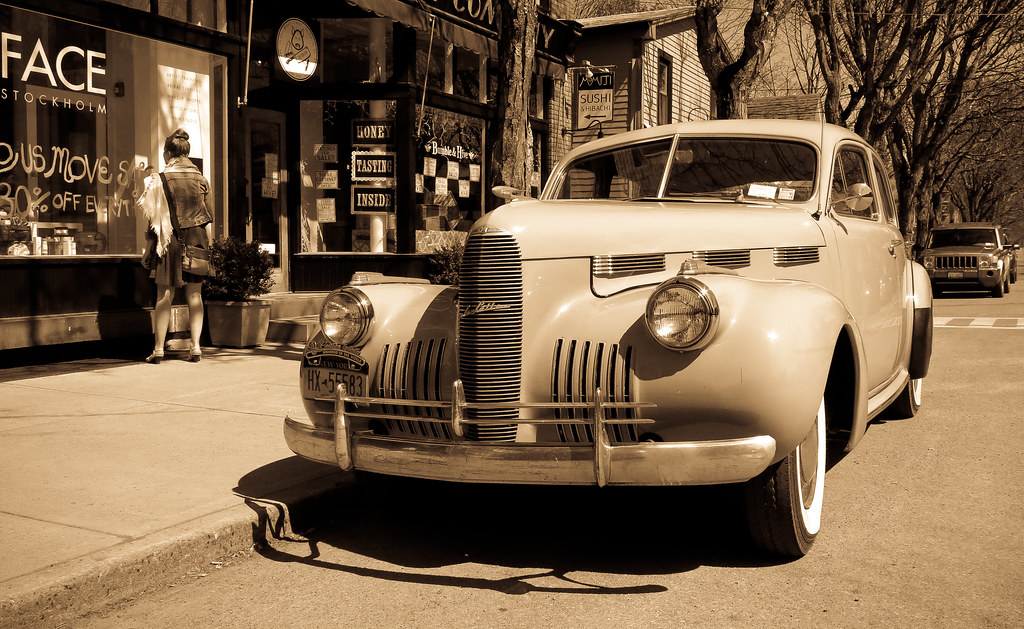 Facing Away From A Cadillac Classic