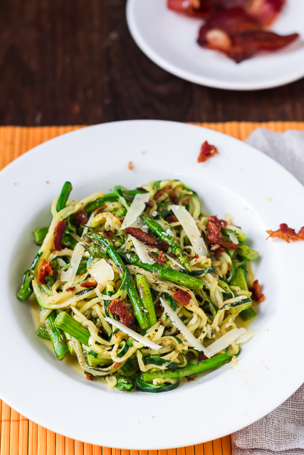 Asparagus and Zoodle Carbonara
