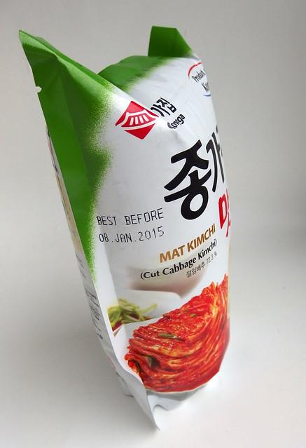 Kimchi verpakking vol lucht