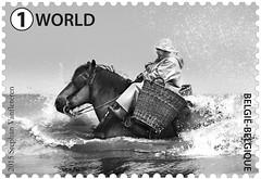 12 Pêcheurs de crevettes timbre