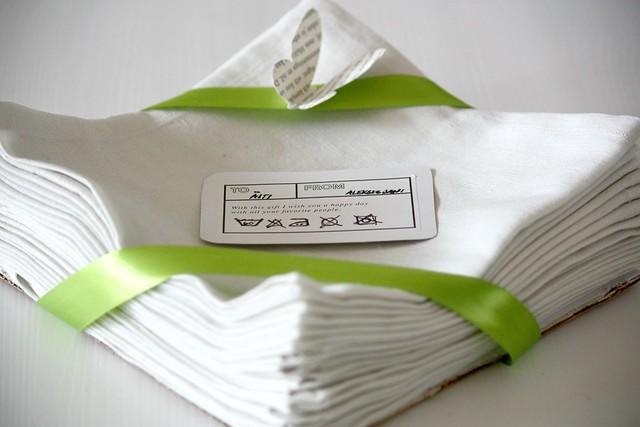 Itse tehdyt kangasservetit Kaikki Paketissa