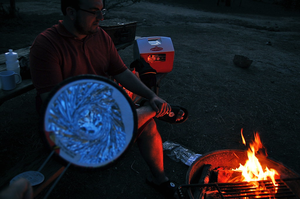 The night ended at a campsite with some of this Jiffy Pop