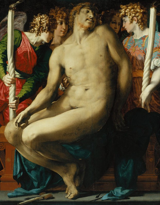 Rosso Fiorentino (Giovanni Battista di Jacopo) - The Dead Christ with Angels (c.1524)