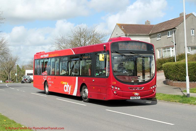 Plymouth Citybus 105 WA12ACY