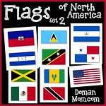 Flags of North America (set 2)