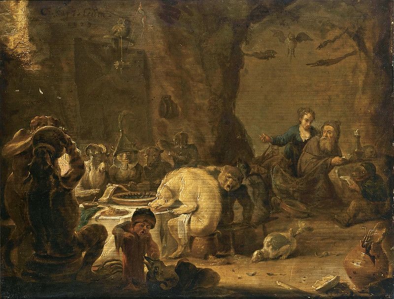 Cornelis Saftleven - The Temptation Of Saint Anthony, 1629