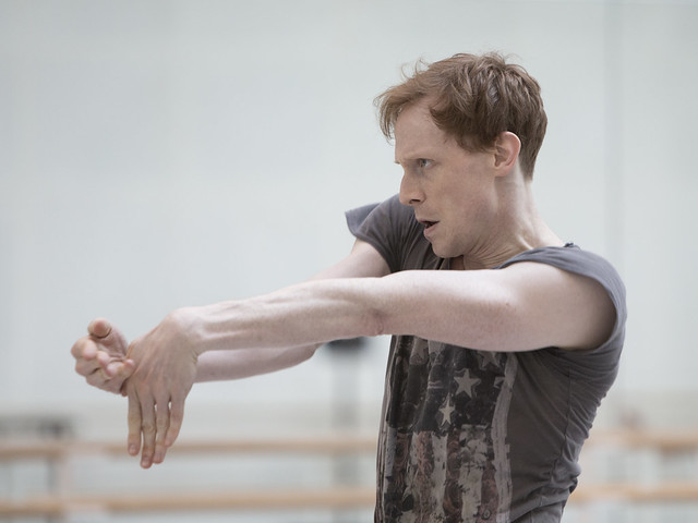 Edward Watson in rehearsal for Woolf Works, The Royal Ballet © 2015 ROH. Photograph by Andrej Uspenski