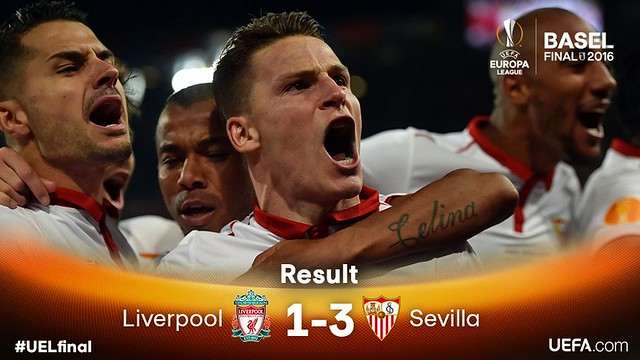 Europa League (Final): Liverpool 1 - Sevilla FC 3