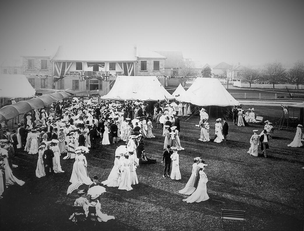 Garden party at Fort York, Toronto, Canada, c1909