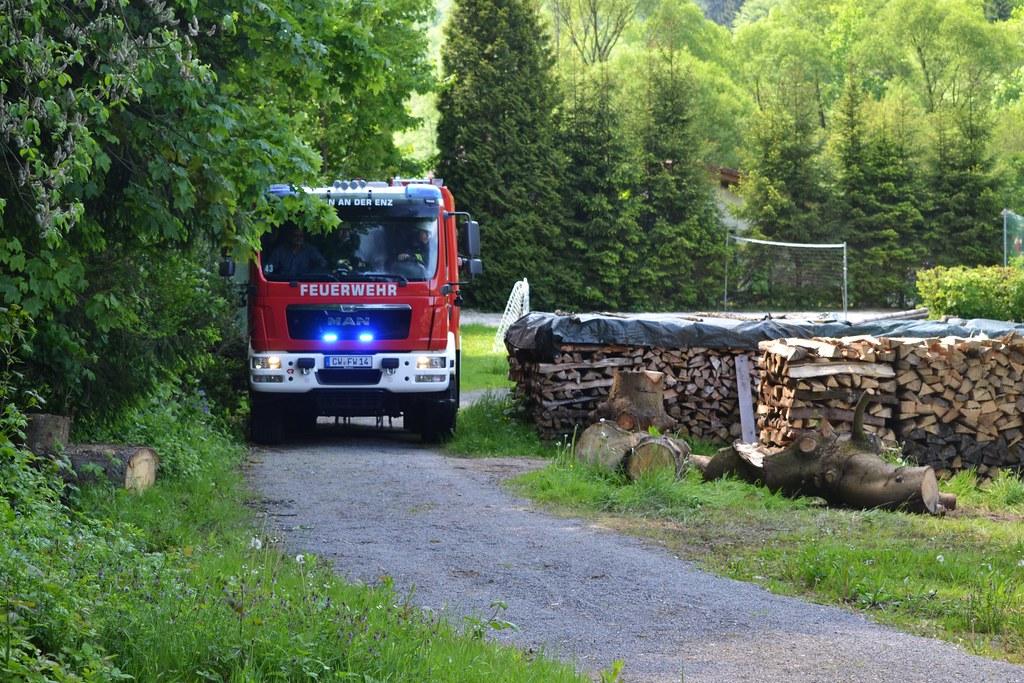 Höfen: Gartenhüttenbrand Campingplatz Höfen - 21.05.2016