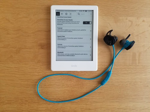 Kindle 2016 and Bluetooth wireless headphones