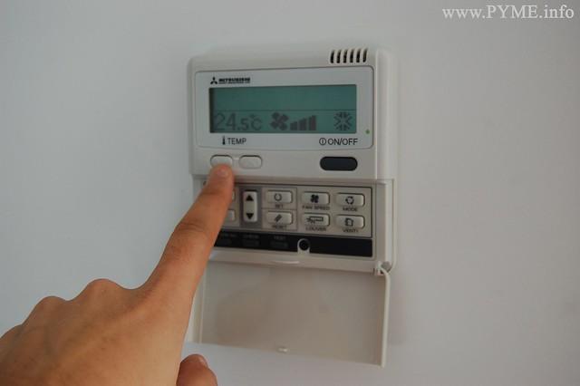A la hora de enceder el aire acondionado, la temperatura aconsejada debe rondar los 24 grados centígrados.