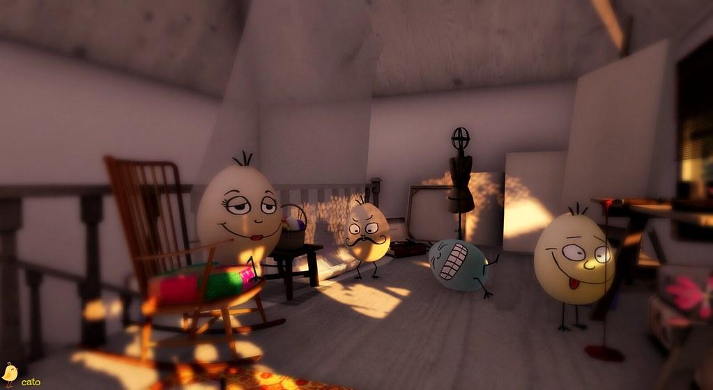 Hiding in the attic...