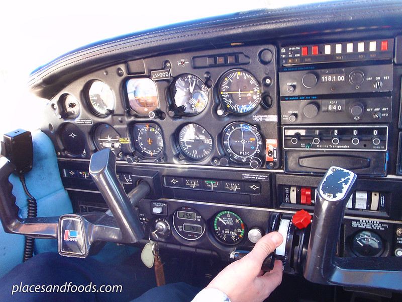 aero club ushuaia flying cockpit