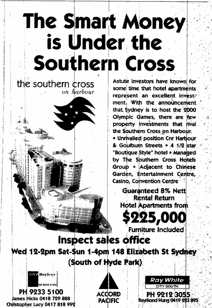 The Southern Cross Haymarket Ad July 5 1997 SMH 14RE
