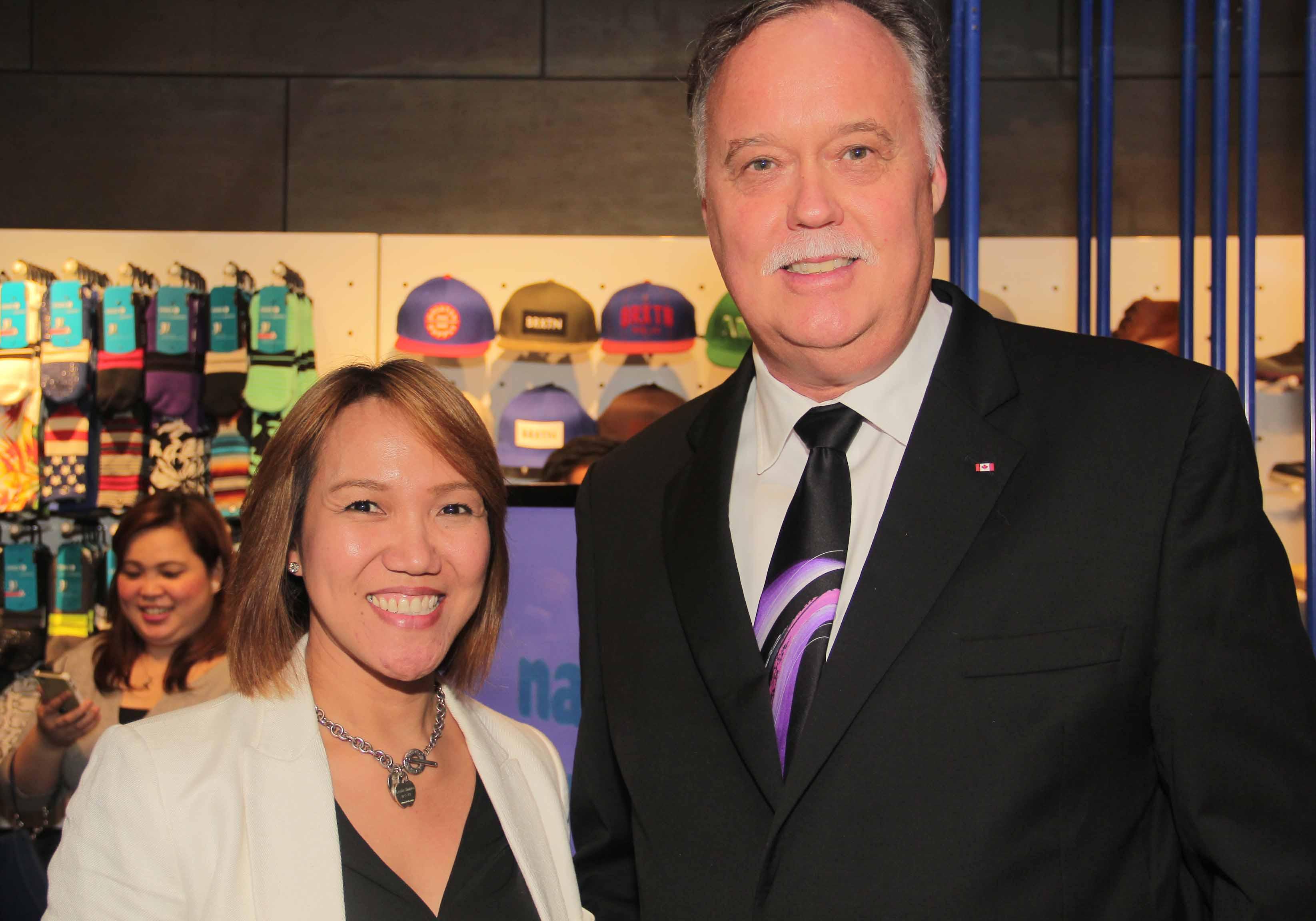 Primer's AVP-Regional Brand Management Ms Leslie Santos with Canadian Ambassador Neil Reeder