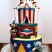 carnival/circus birthday cake