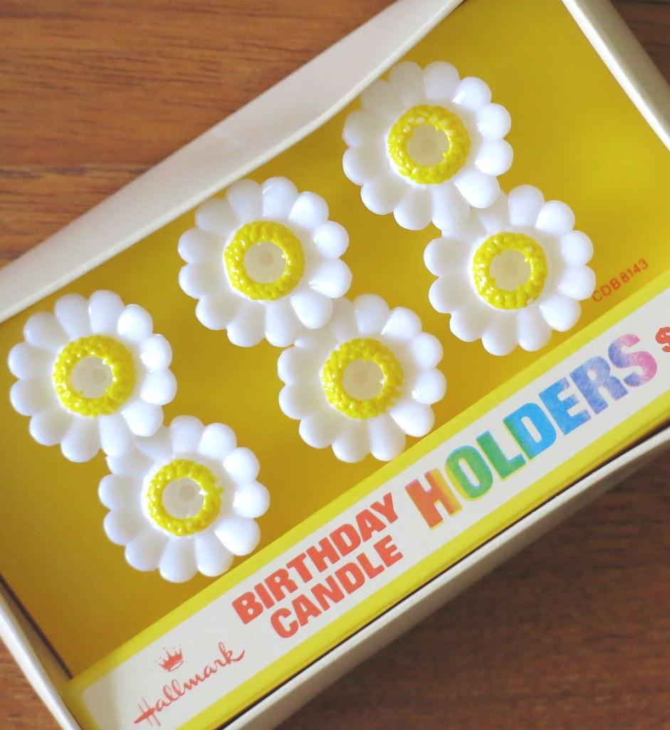 Vintage Hallmark Daisy Birthday Candle Holders
