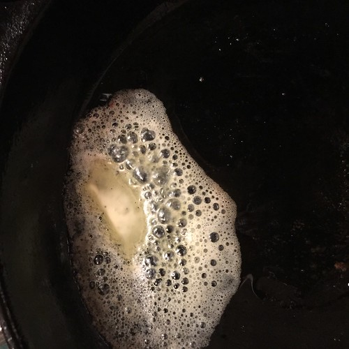 butter in a hot skillet