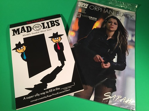 March 2015 Loot Crate Mad LIbs & Comic