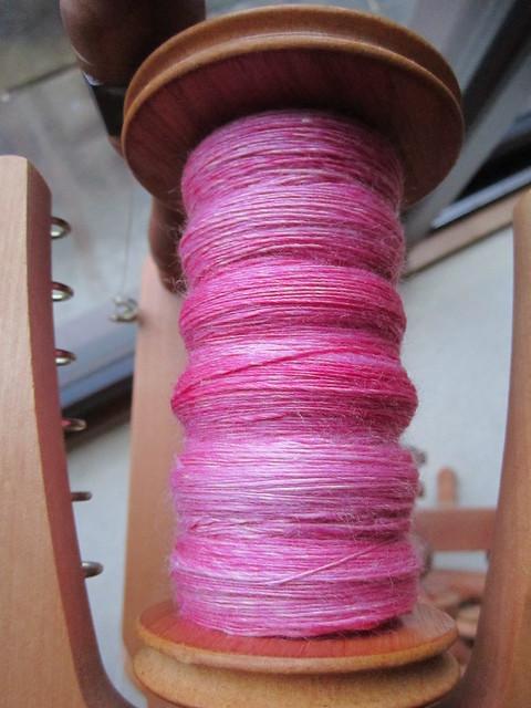 Pink Coast handspun WIP (1)