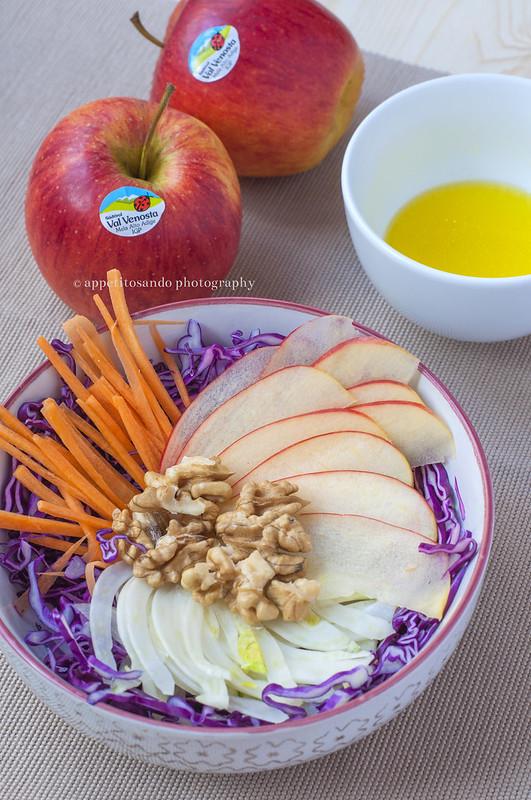 insalata invernale con mele Pinova
