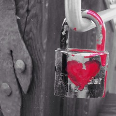 The love locks of Venice, Italy