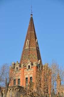 Barcelona. Saint Ignatius of Loyola  School (The Sarrià jesuits). 1893-1896. Joan Martorell, architect