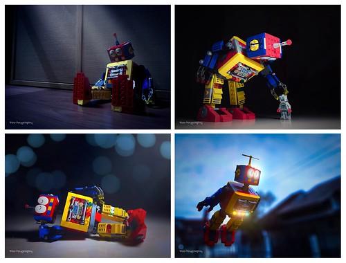 LEGO Clockwork Robot - Photographs By Sennfoo