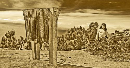 travel people lake peru titicaca girl vintage island teen solo taquile isla quechua bilwander ρeru