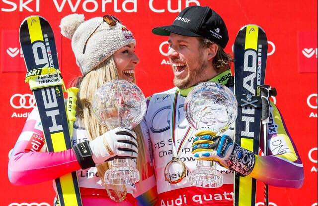 Lindsey Vonn and Kjetil Jansrud WC Finals '15