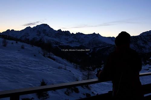 sunset people snow night tramonto persone neve notte lanzada valmalenco so