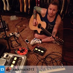 #Repost @zackmack513 Zach and I are checking out some of the cool features of a Zoom pedal he contributed some sounds to. I've been using mine a few years now and and absolutely love it. Thanks #zoompedals #ZachMyers #Shinedown