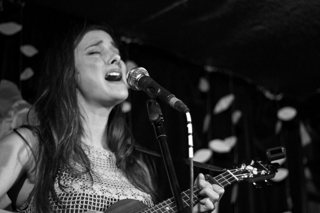 Hayley Harland performing at The Acoustic Folk Highway - The Harrison, London