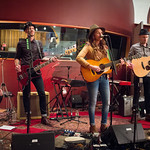 Thu, 12/03/2015 - 7:21pm - Brandi Carlile, Phil and Tim Hanseroth and the band, Electric Lady Studios session, NYC. Hosted by Rita Houston. Photo by Gus Philippas.