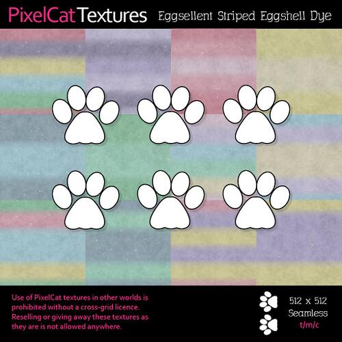 PixelCat Textures - Eggsellent Striped Eggshell Dye