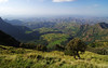 Day 1: First views from the Simien plateau