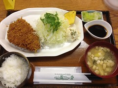 meal, lunch, curry, steamed rice, tonkatsu, fish, food, dish, cuisine,