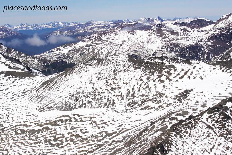 ushuaia snow mountains