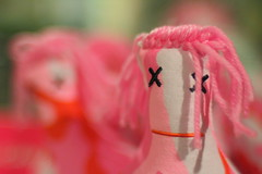 Silly Pink Dolls and Bokeh