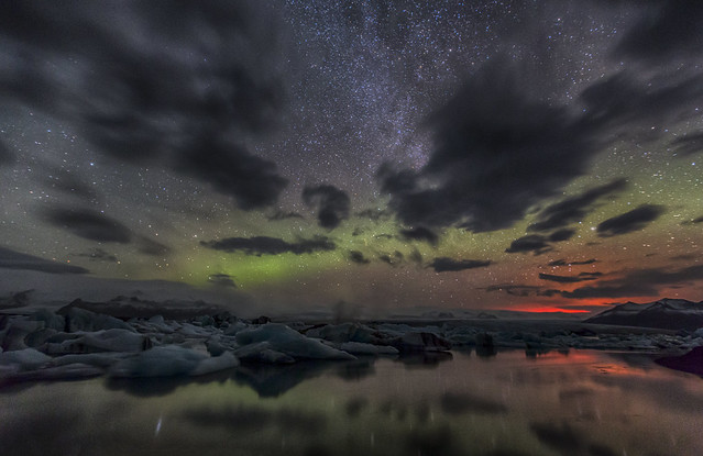 The Aurora and the light of holuhraun