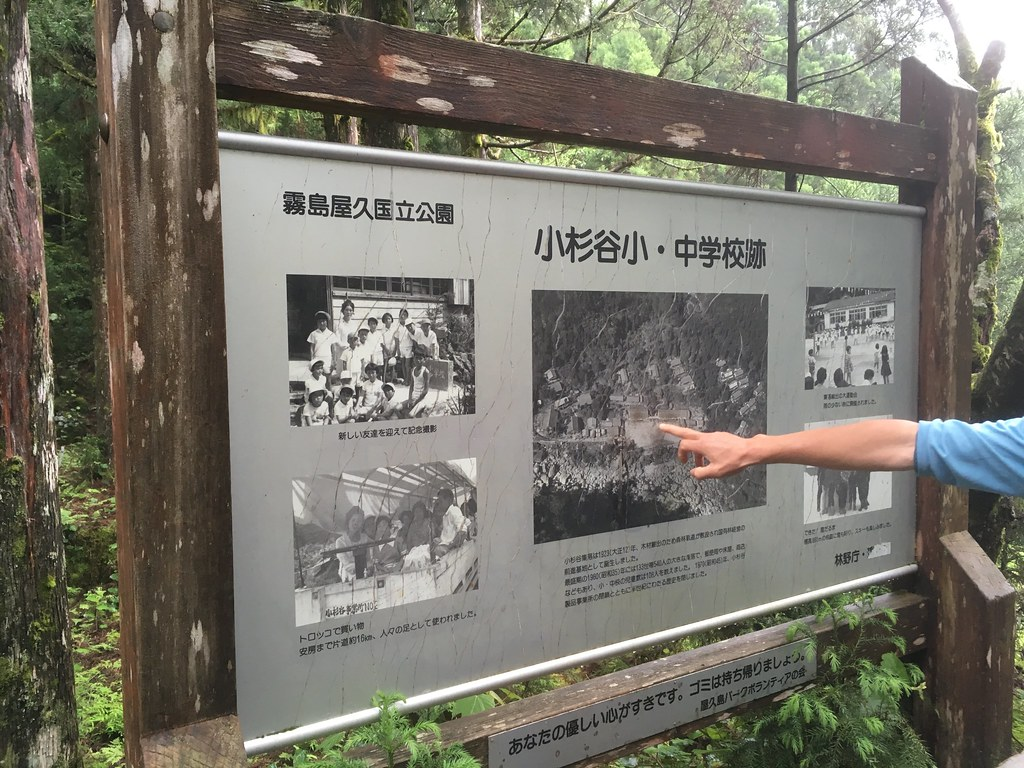 集落の学校があった跡地